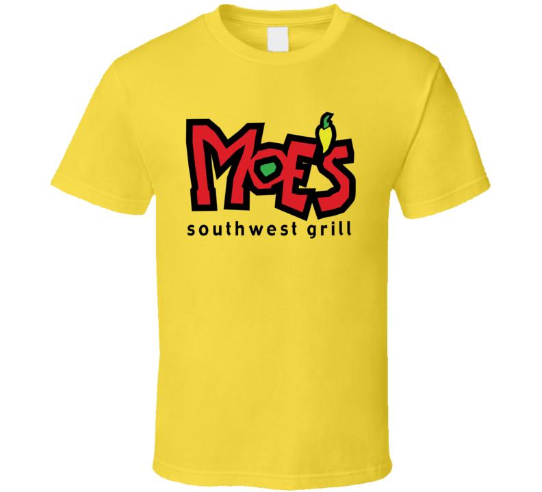 Moe's Southwest Grill Fast Food Restaurant Logo T Shirt