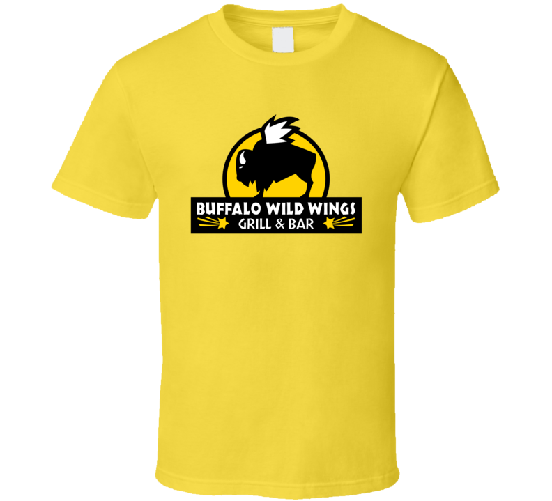 Buffalo Wild Wings Grill And Bar Fast Food Restaurant Logo T Shirt