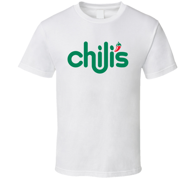 Chili's Classic Fast Food Restaurant Logo T Shirt