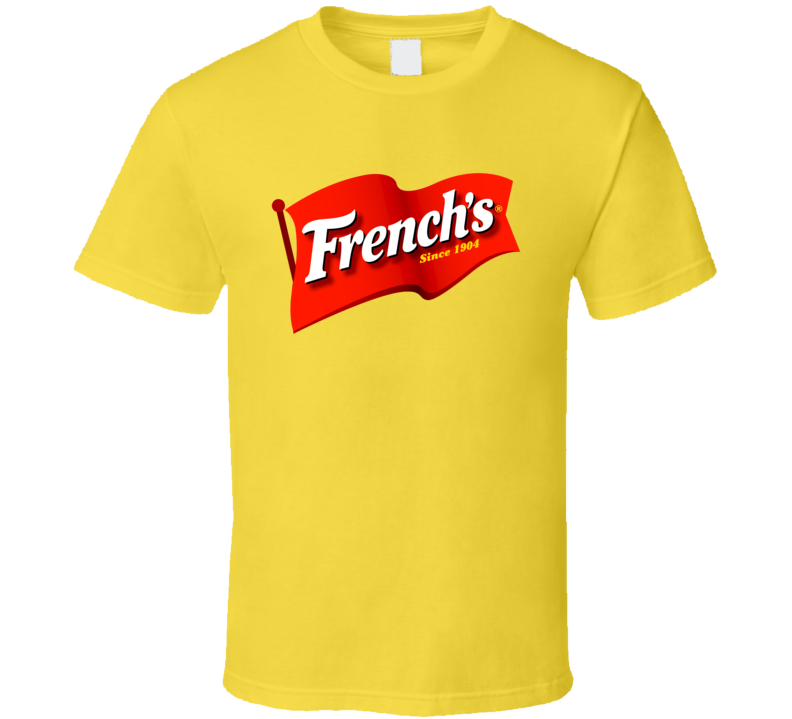 French's Classic Yellow Mustard Bottle Logo T Shirt