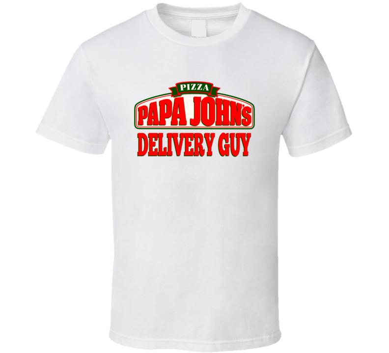 Papa John's Pizza Italian Restaurant Delivery Guy Funny Halloween T Shirt