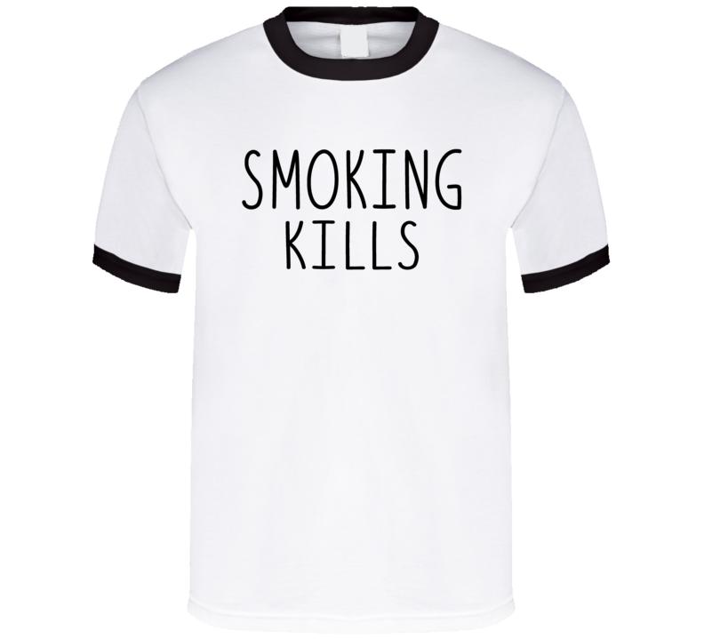 First Daughter Malia Obama Smoking Kills Inspired Statement Ringer T Shirt