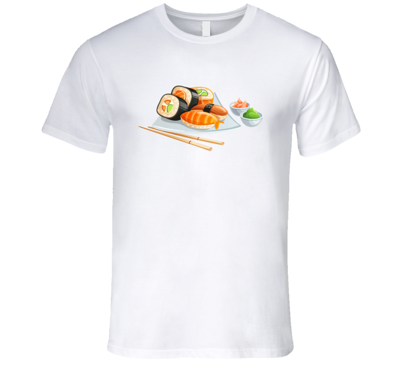 Sushi Japanese Funny Favorite Food Lover Foodie T Shirt