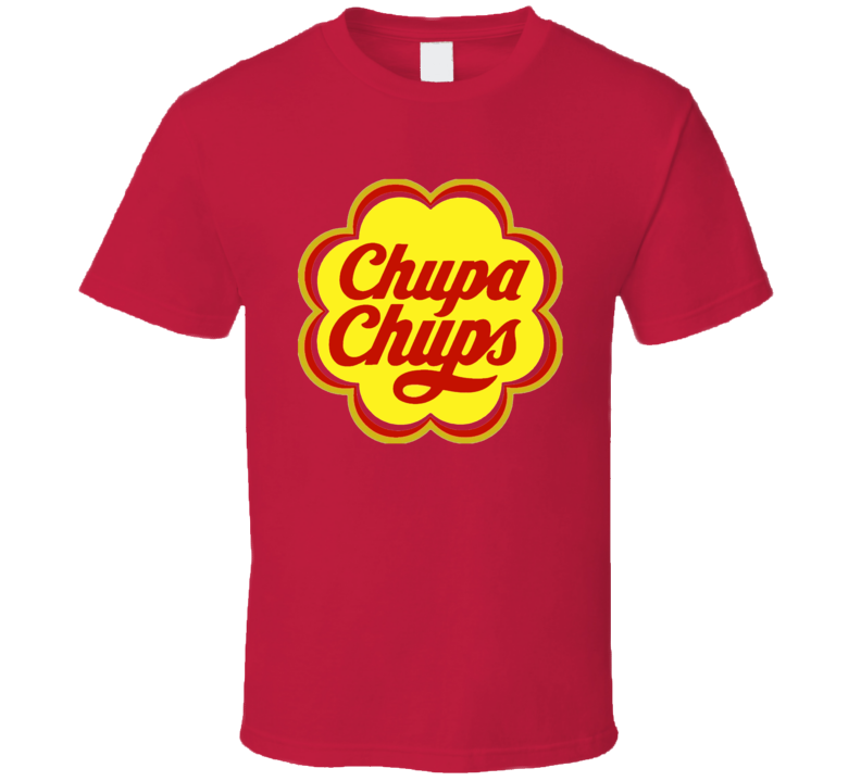 Red Chupa Chups Candy Wrapper Logo Halloween Costume T Shirt