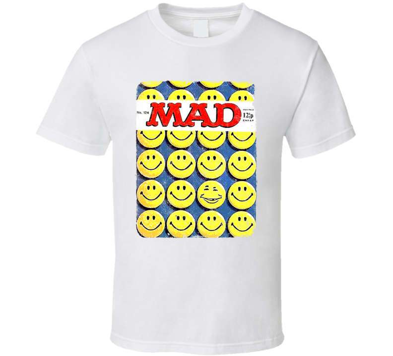 MAD TV Magazine Cover Smile Face That 70's Show Retro Grunge Look Gift T Shirt