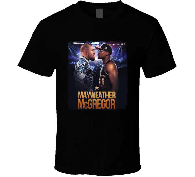 Floyd Mayweather VS Conor McGregor Boxing Fight Card Poster Fan T Shirt
