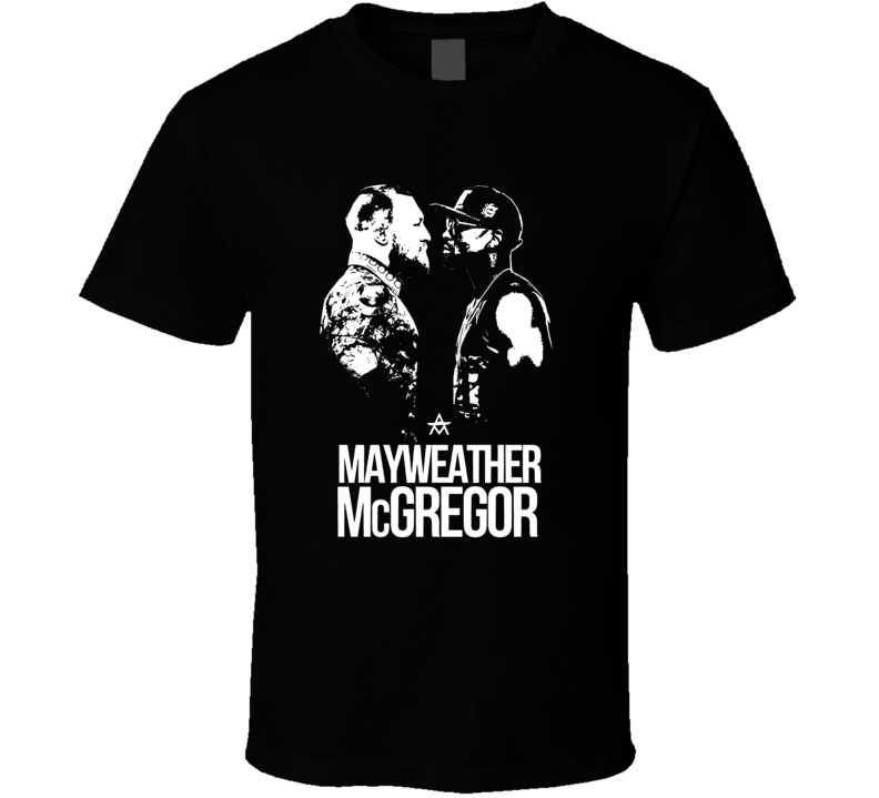 Floyd Mayweather VS Conor McGregor Boxing Fight Card Poster T Shirt