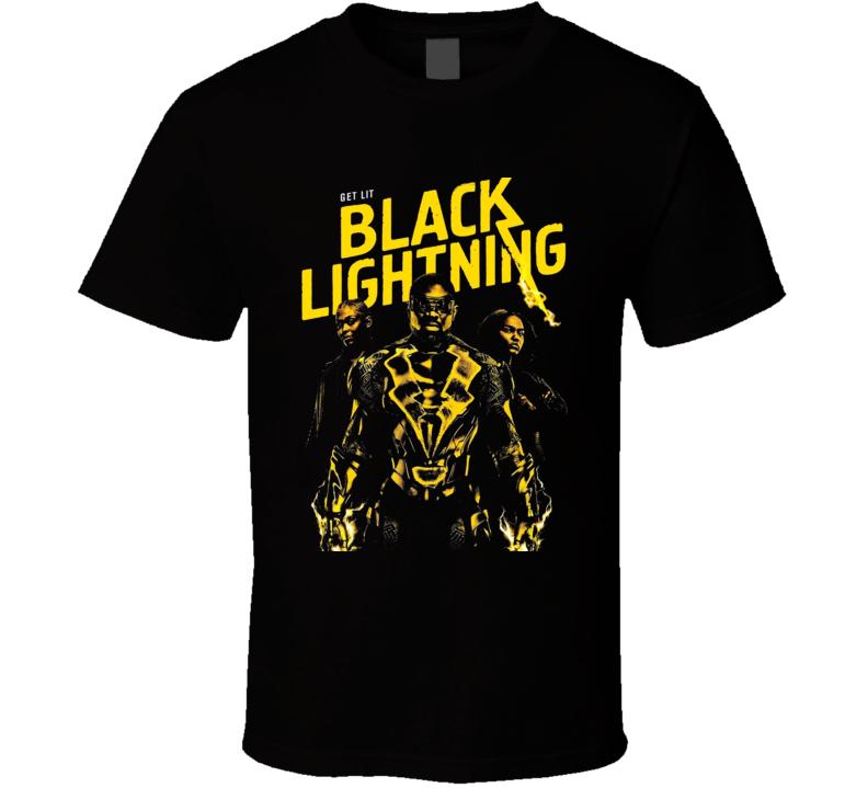 Black Lightning Comic Book Super Hero Tv Series Poster Fan T Shirt