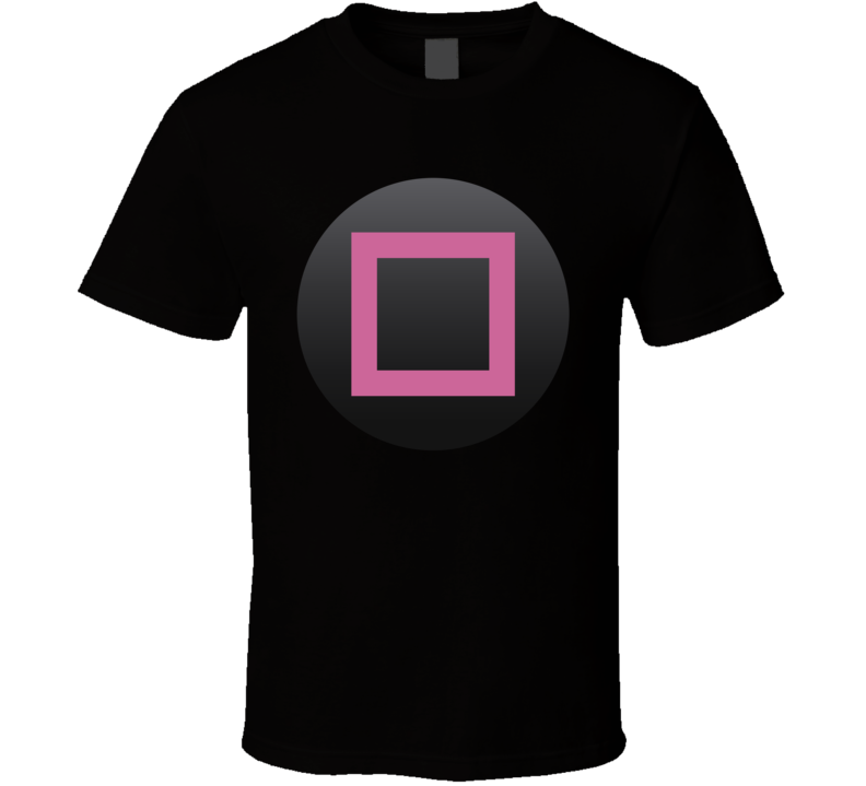 Playstation Square Button Geek Gamer Group Halloween Costume T Shirt