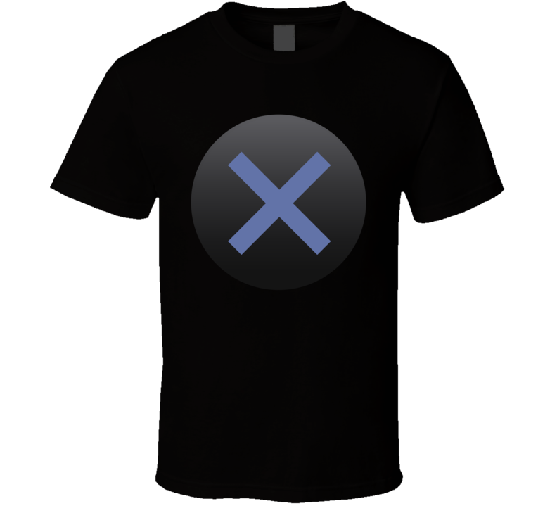 Playstation X Button Geek Gamer Group Halloween Costume T Shirt