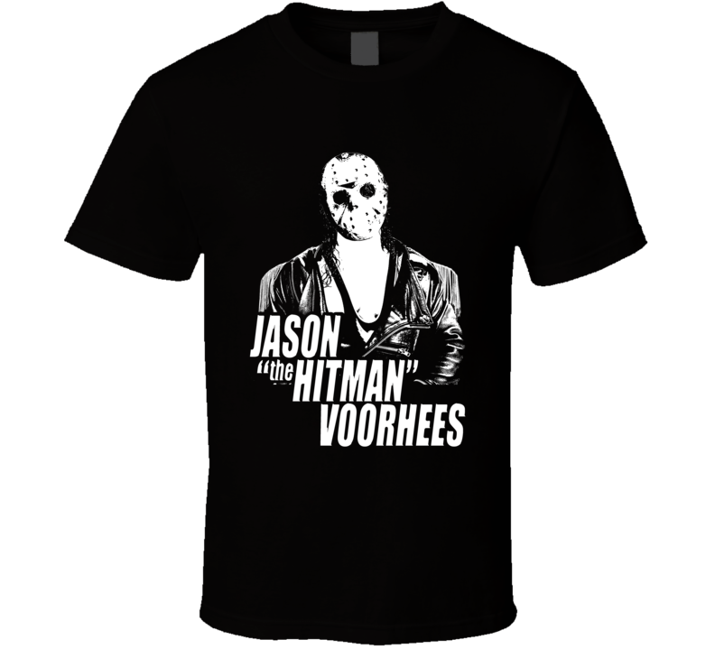 Hitman Hart Jason Friday The 13th Funny Horror Wrestling Parody Fan T Shirt