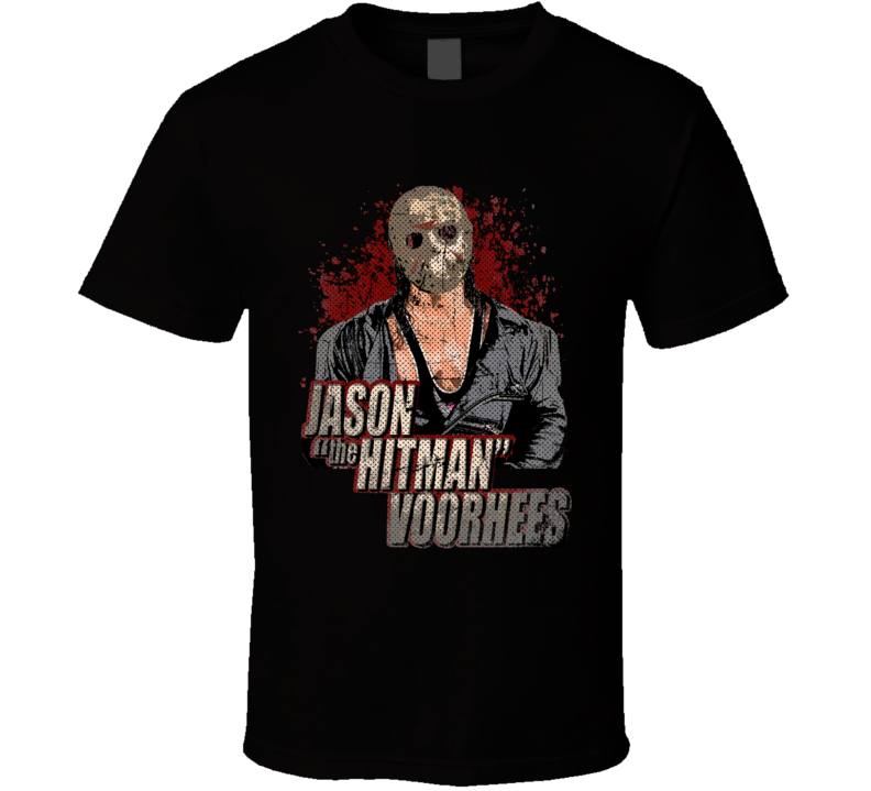Hitman Hart Jason Friday The 13th Horror Wrestling Parody Fan T Shirt