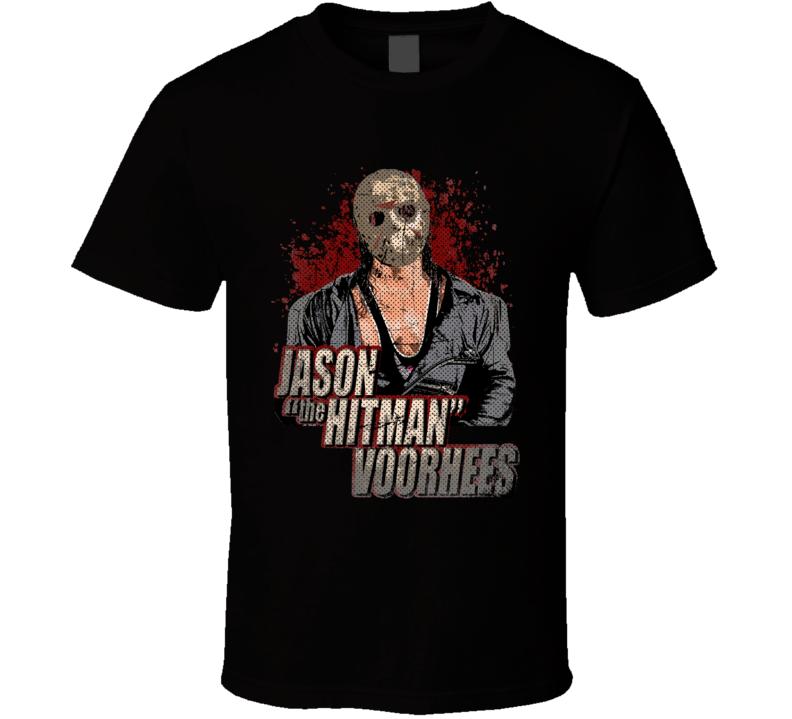 Hitman Hart Jason Friday The 13th Horror Wrestling Parody Fan T Shirt