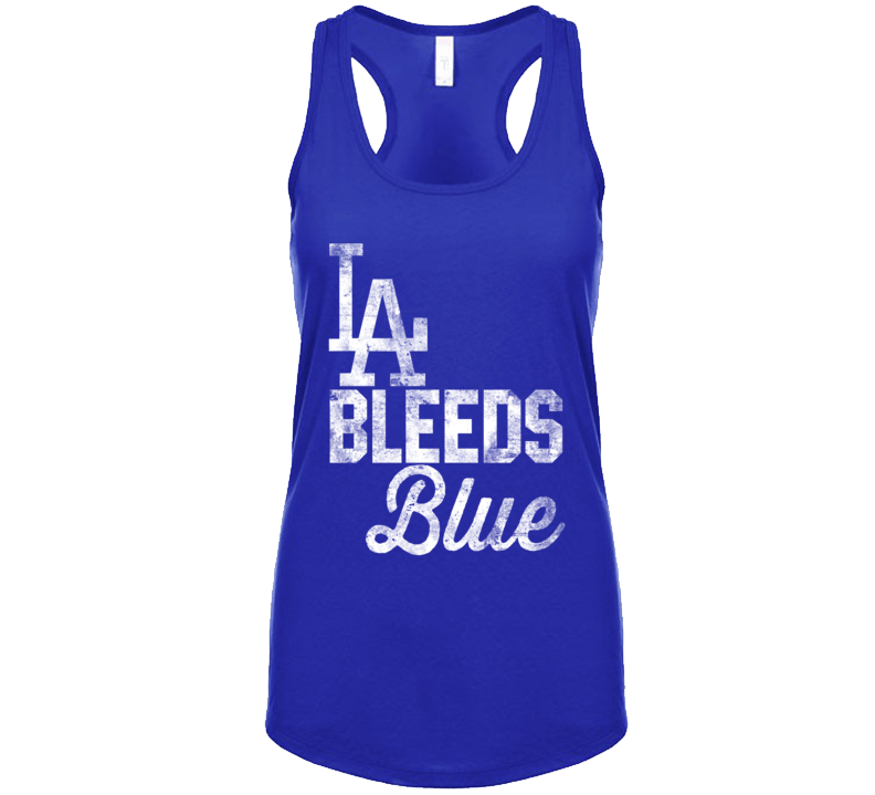 La Los Angeles Bleeds Blue California City Sports Team Colour Fan Ladies Tanktop