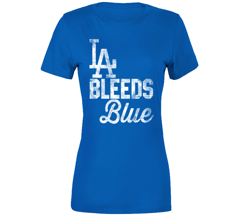 La Los Angeles Bleed Blue California City Sports Team Colour Fan Ladies T Shirt