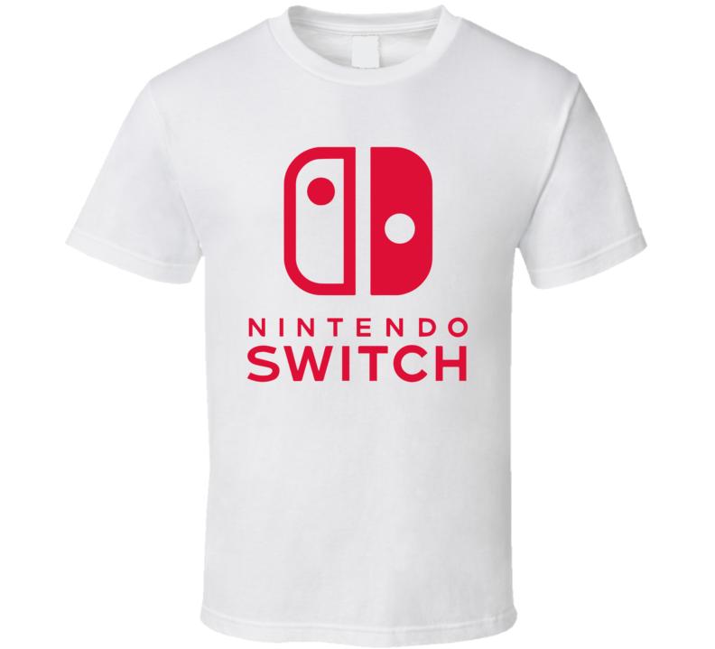 Nintendo Switch Portable Gaming System Gamer Geek Logo Fan T Shirt