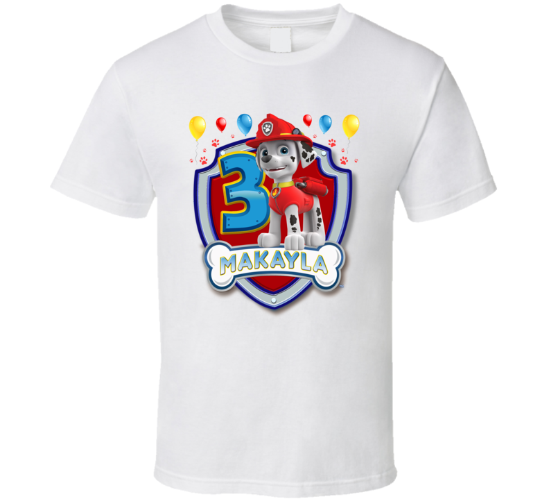 Marshall Paw Patrol Birthday Makayla 3 T Shirt