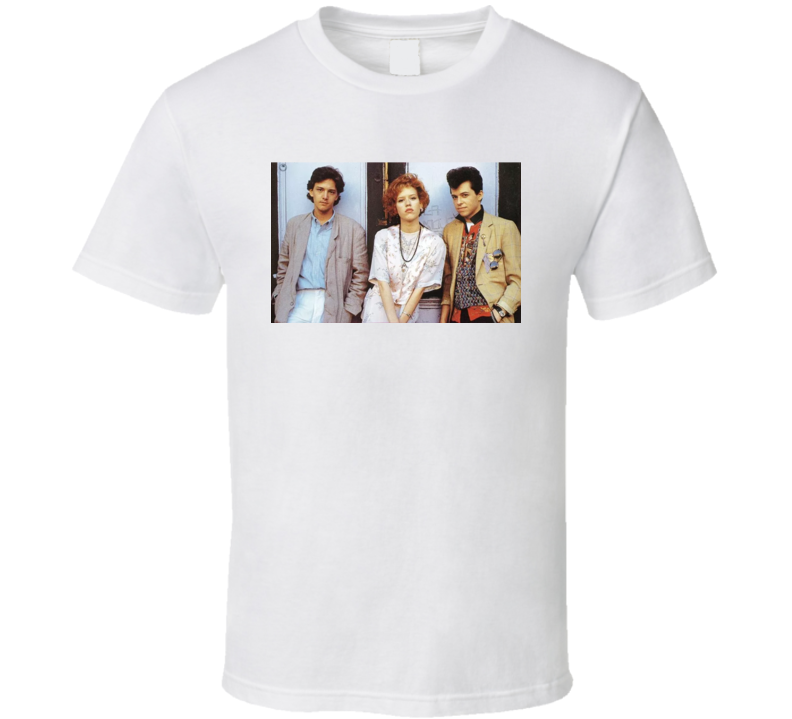 Pretty In Pink Retro Movie Poster T Shirt