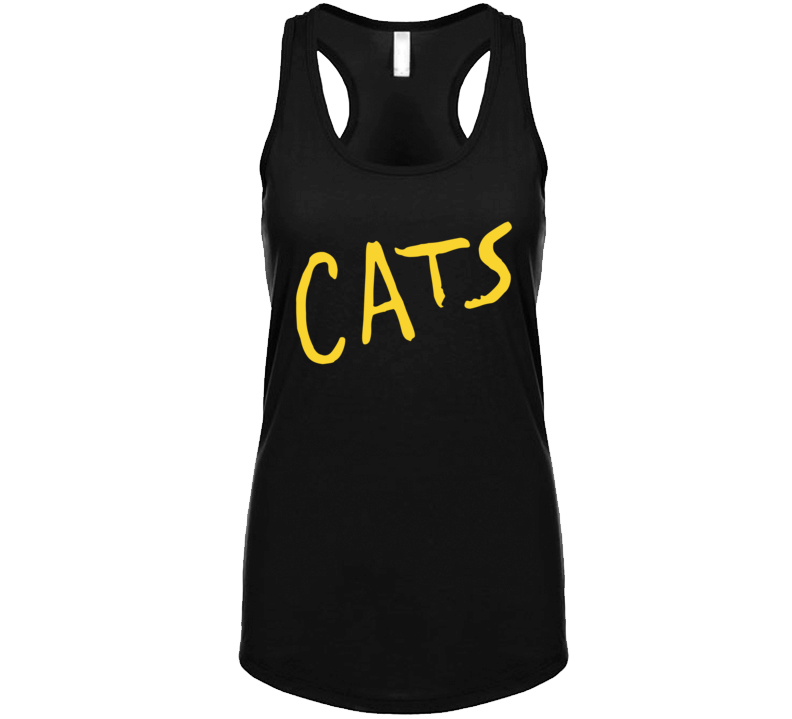 Cats Musical Movie Adaptation Logo Poster  Racerback Tanktop