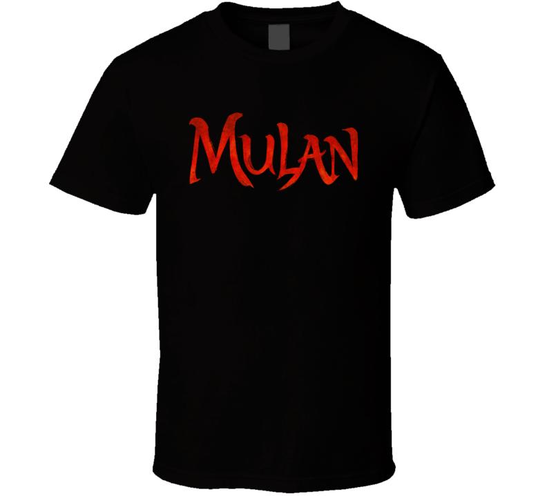 Mulan Live Action Movie Remake Title Logo Poster Fan T Shirt