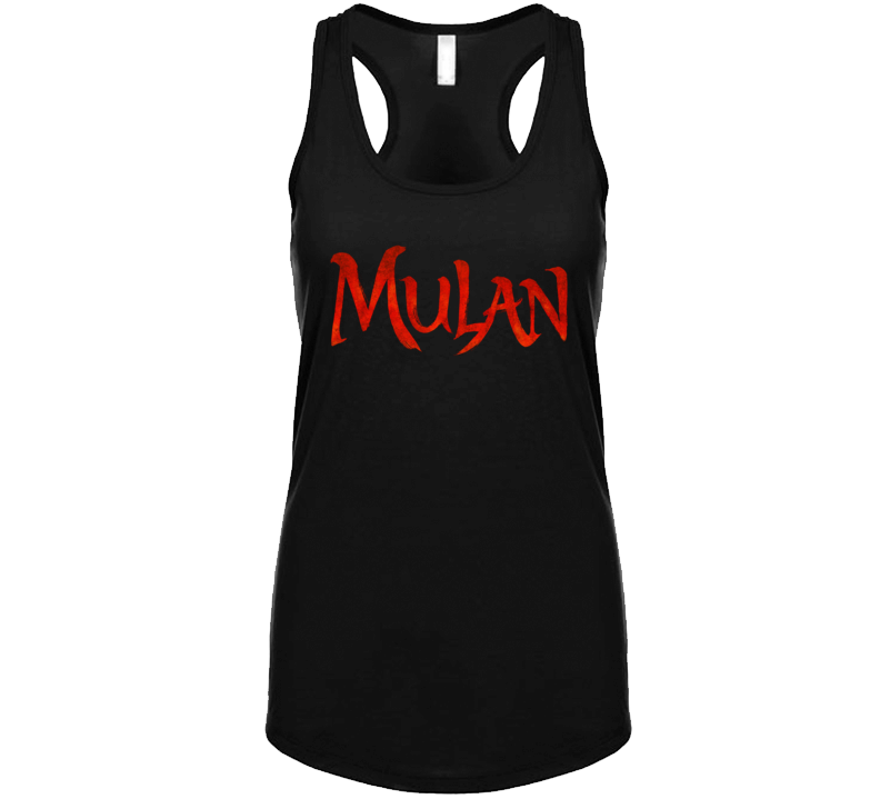 Mulan Live Action Movie Remake Title Logo Poster Fan  Racerback Tanktop