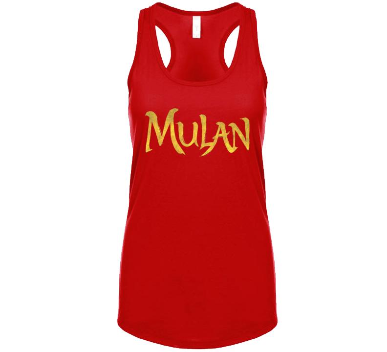 Mulan Live Action Movie Remake Title Logo Poster  Racerback Tanktop