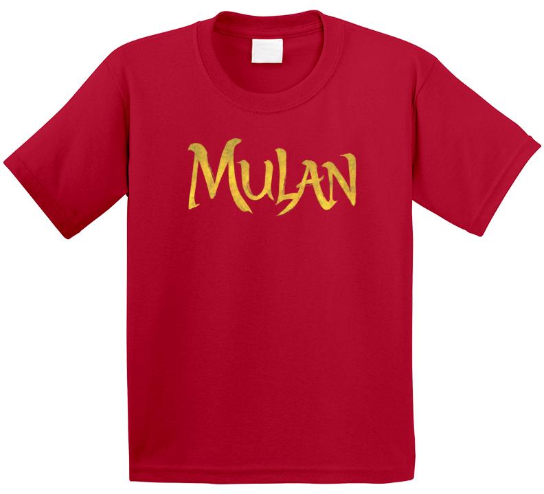 Mulan Live Action Movie Remake Title Logo Poster Kids T Shirt