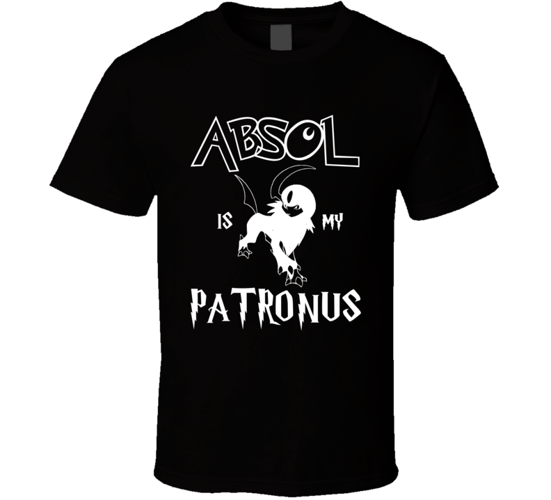 Absol Pokemon Is My Patronus Harry Potter Gamer Geek Mashup Fan T Shirt