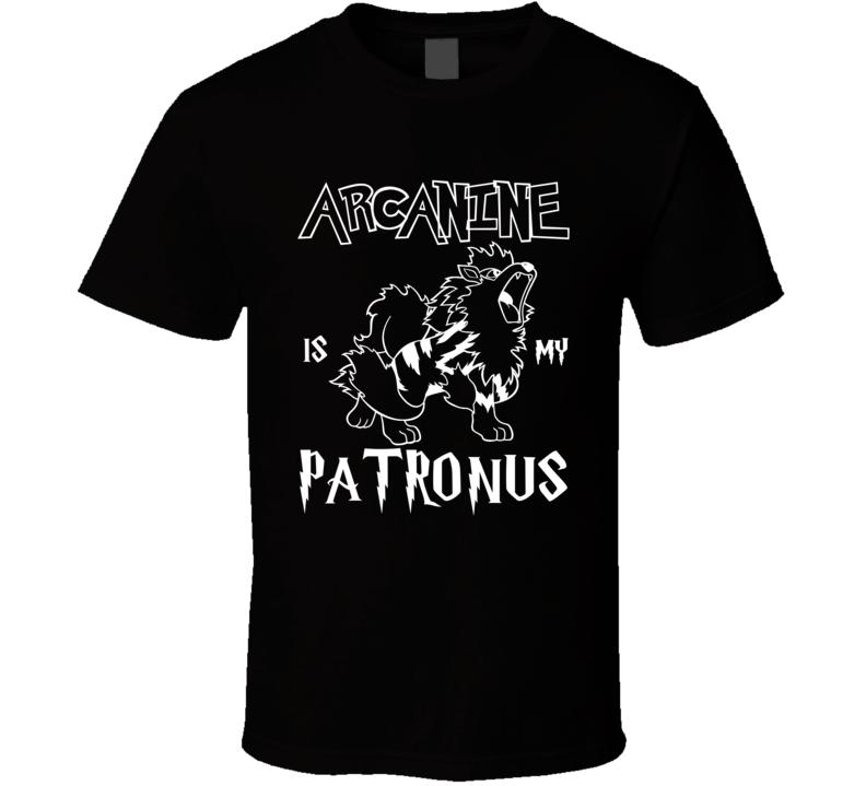 Arcanine Pokemon Is My Patronus Harry Potter Gamer Geek Mashup Fan T Shirt