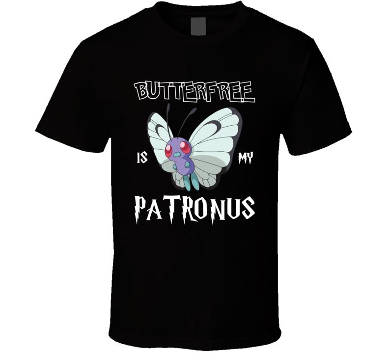 Butterfree Pokemon Is My Patronus Harry Potter Gamer Geek Mashup Fan T Shirt
