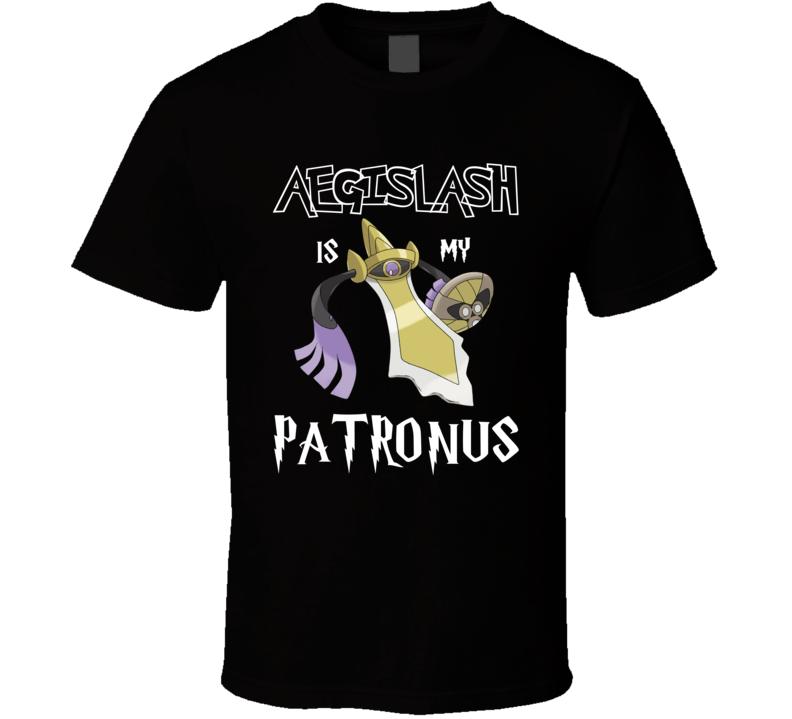 Aegislash Pokemon Is My Patronus Harry Potter Gamer Geek Mashup Fan T Shirt