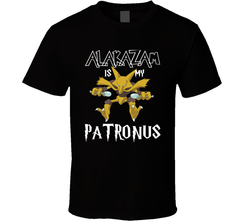 Alakazam Pokemon Is My Patronus Harry Potter Gamer Geek Mashup Fan T Shirt