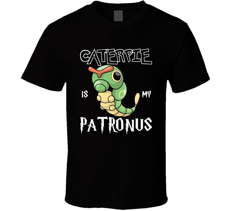 Caterpie Pokemon Is My Patronus Harry Potter Gamer Geek Mashup Fan T Shirt