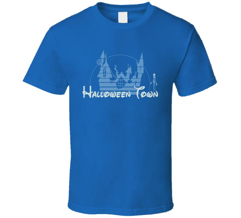 Halloween Town Jack Skelington Nightmare Before Christmas Disney Logo Parody T Shirt