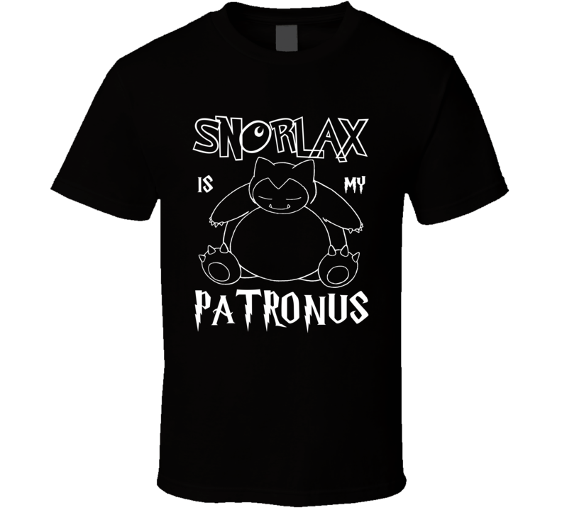 Snorlax Pokemon Is My Patronus Harry Potter Gamer Geek Mashup Fan T Shirt