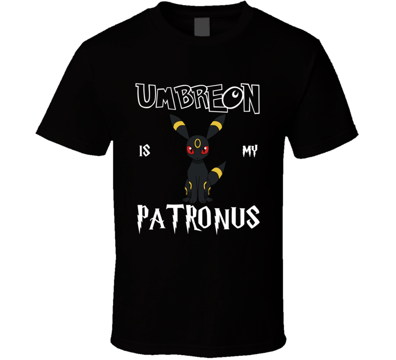 Umbreon Pokemon Is My Patronus Harry Potter Gamer Geek Mashup Fan T Shirt