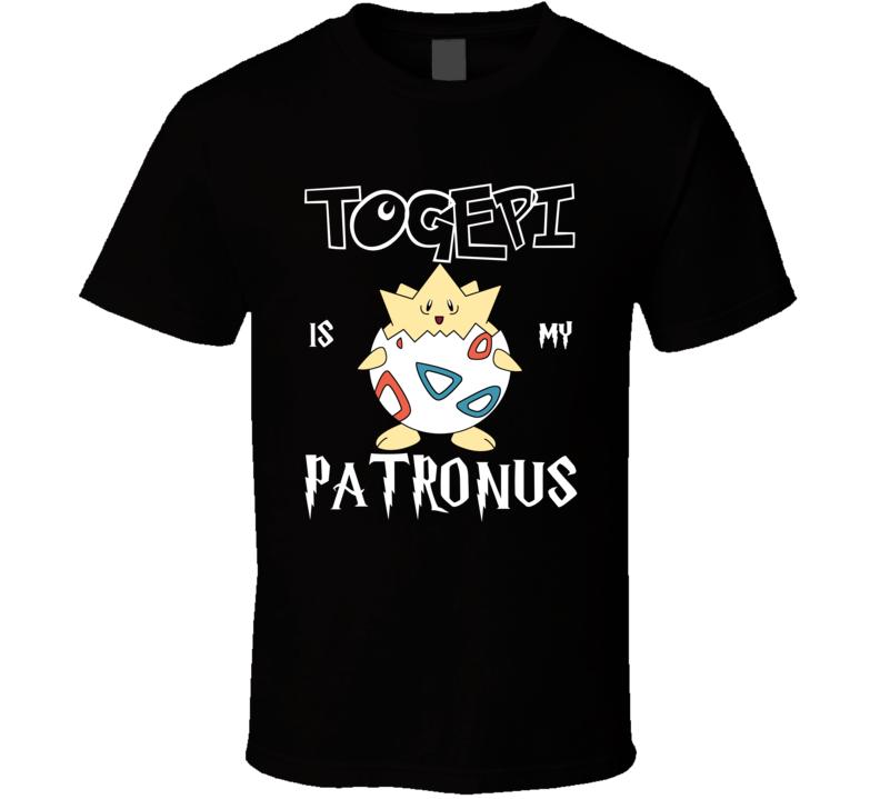 Togepi Pokemon Is My Patronus Harry Potter Gamer Geek Mashup Fan T Shirt