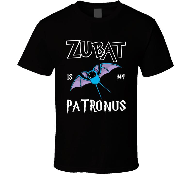 Zubat Pokemon Is My Patronus Harry Potter Gamer Geek Mashup Fan T Shirt