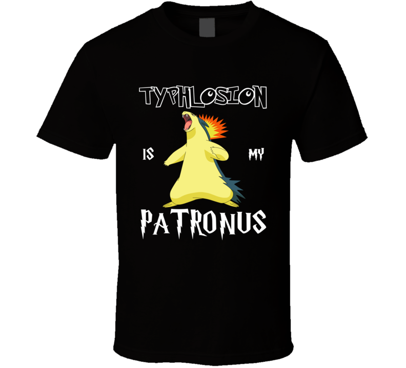 Typhlosion Pokemon Is My Patronus Harry Potter Gamer Geek Mashup Fan T Shirt