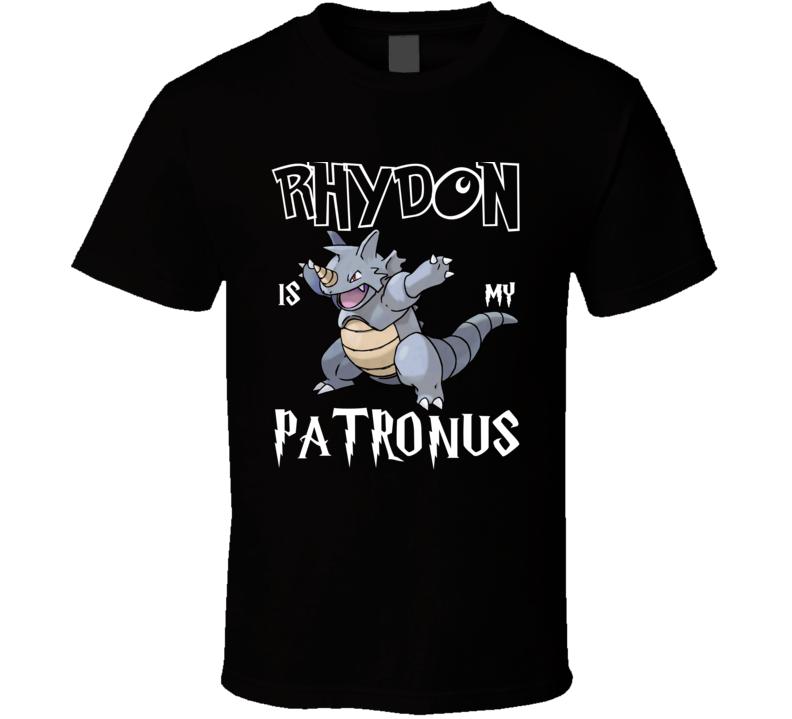 Rhydon Pokemon Is My Patronus Harry Potter Gamer Geek Mashup Fan T Shirt