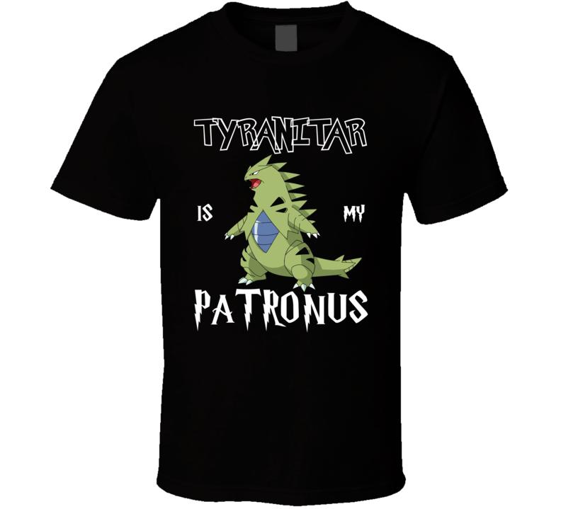 Tyranitar Pokemon Is My Patronus Harry Potter Gamer Geek Mashup Fan T Shirt