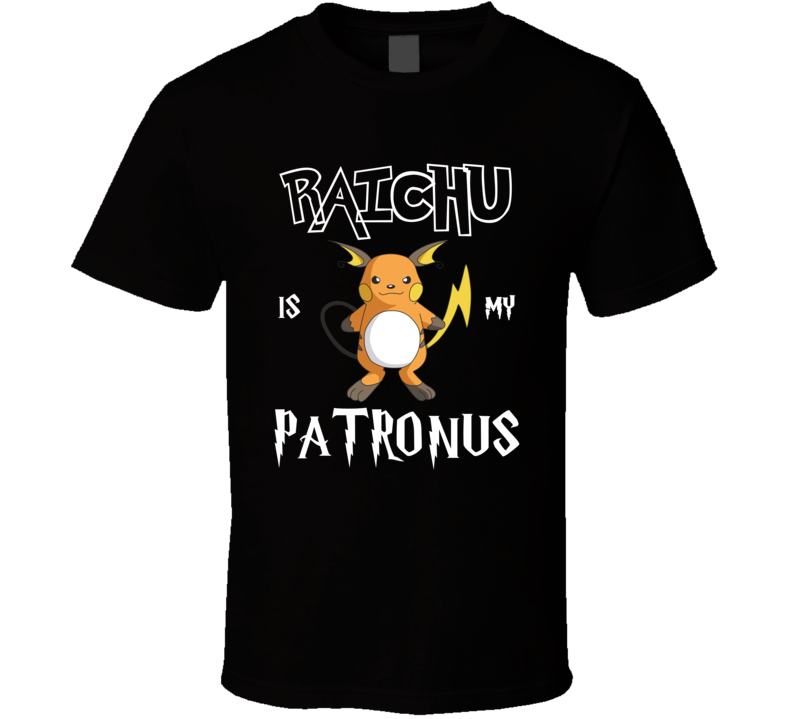 Raichu Pokemon Is My Patronus Harry Potter Gamer Geek Mashup Fan T Shirt