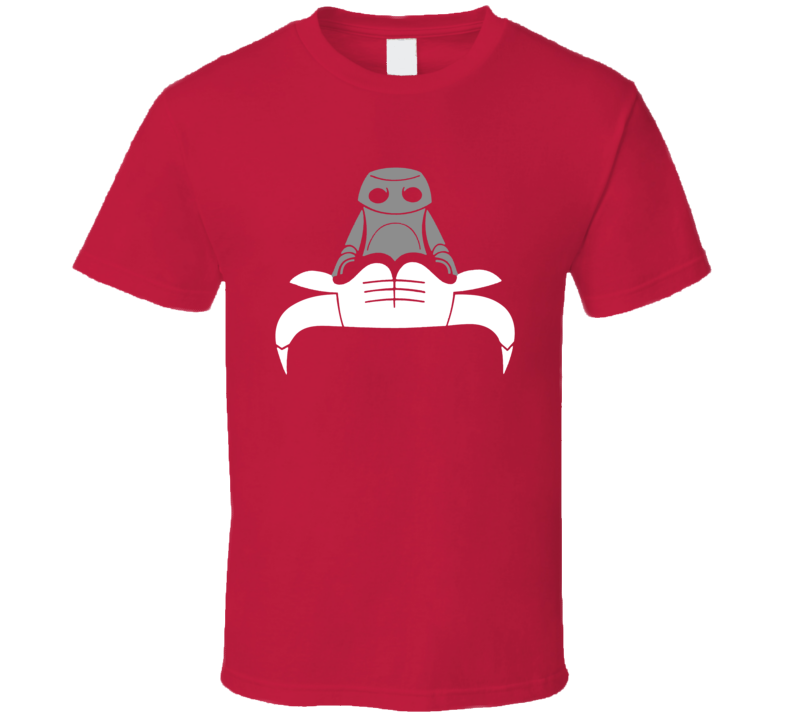 Upside Down Chicago Basketball Logo Robot Effing Crab Parody Fan T Shirt