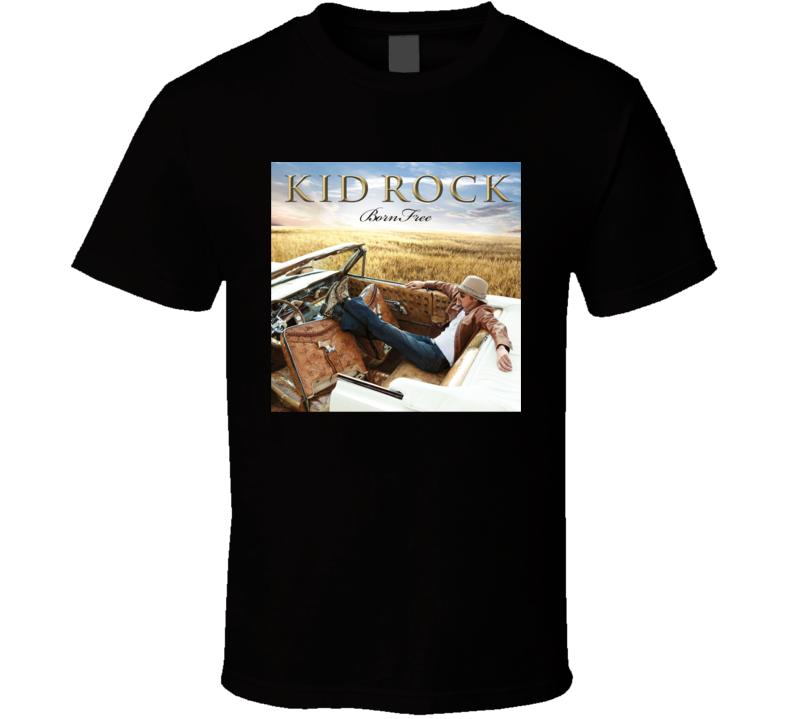 Kid Rock Born Free Country Rock Music Album Fan Concert T Shirt