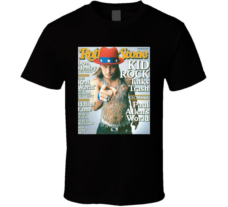 Kid Rock Rolling Stone Country Rock Music Album Fan Concert T Shirt
