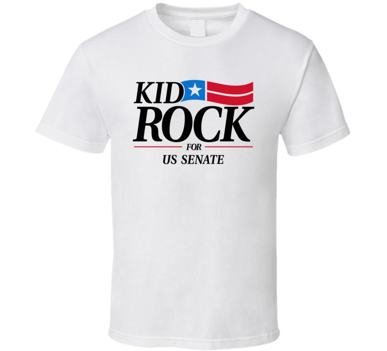 Kid Rock For Us Senate Country Rock Music Fan T Shirt