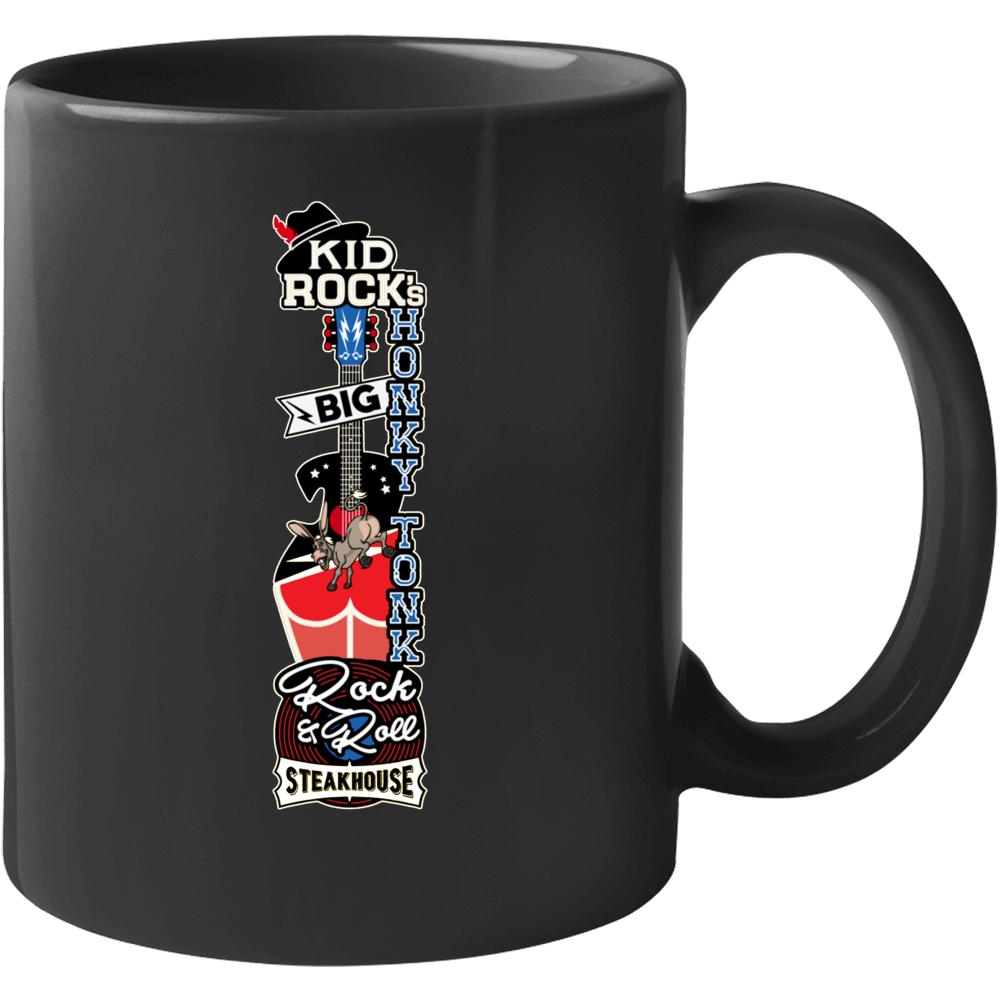 Kid Rock's Big Honky Tonk Rock & Roll Steakhouse Nashville Bar Sign Logo Mug