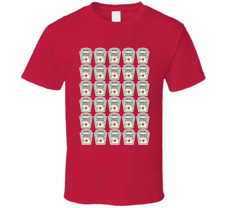 Heinz Tomato Ketchup Bottle Label Retro Food Logo Pop Art Inspired T Shirt