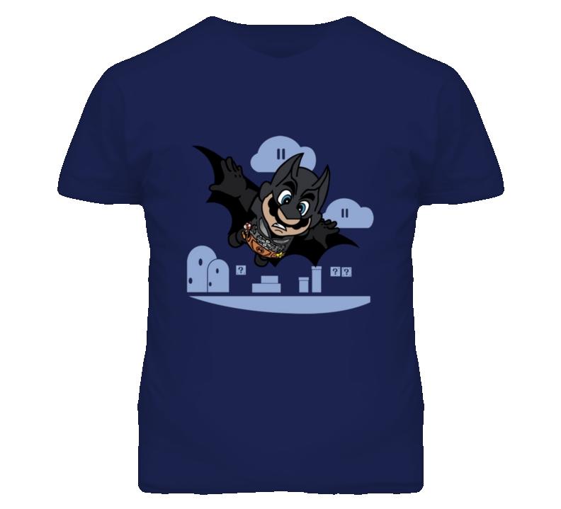 Mario Batman Super Bros Batmario T Shirt