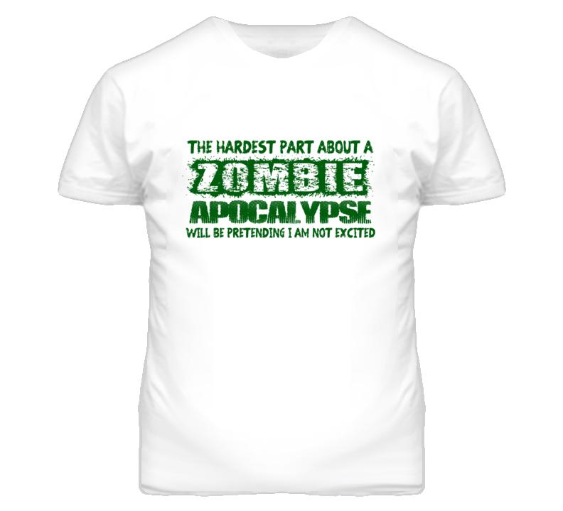 Zombie Apocalypse Walking Dead Halloween Funny T Shirt